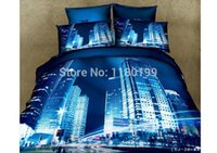 Wholesale Hot sale Cotton Luxury Oil painting vivid High quality Queen King size d bedding sets Bedclothes ANIMAL Architecture car
