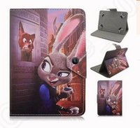 Wholesale 9 design new zootopia Protective PU Leather Case Cover for inch Tablet Universal Unbranded KKA07