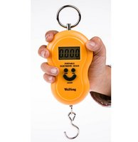 Wholesale ABS engineering plastic kg x g Kg Lb Jin Oz LCD Lage Hanging Digital Pocket Scale with Temperature for fishing lage
