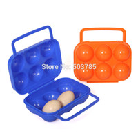 egg container - Portable Folding Outdoor Picnic BBQ tool Camping Shatter Proof Eggs Holder Plastic Egg Storage Box Carrier Container