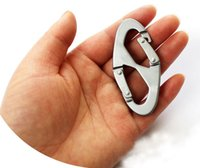 Wholesale Outdoor Camping Equipment Portable Shape Buckle Snap Clip Climbing Carabiner Hanging Keychain Backpack Anti theft Hang Buckle