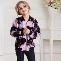 age sleeves size - Children Coat For New Spring Brand High end Long sleeve Printing Velvet Jackets for girls Design and color Size Age G05