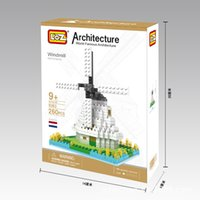 plastic windmill toy - LOZ DIY large plastic building blocks sets children eductional toys famous architecture Holland Windmill box H0005 building7