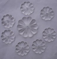 Wholesale 100pcs mm transparent color glass rosette flower beads crystal curtain beads glass chandelier beads