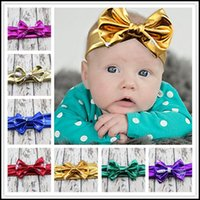artificial orange tree - Prettybaby Kids christmas Artificial Leather head gear with a big bow baby snow and Xmas tree printing elastic hair accessories Pt0148