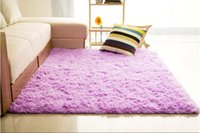 Wholesale 10 Colors mm mm Long Plush Shaggy Soft Carpet Area Rug Slip Resistant Door Floor Mat For Bedroom Living Room