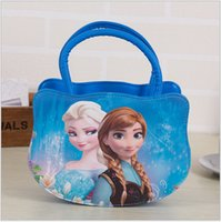 Wholesale AAA quality color kid girl totes frozen handbag leisure one shoulder Inclined school bag backpack christmas birthday gift topB1349