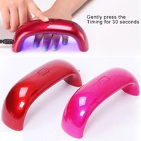 Wholesale LED UV Nail Lamp Nail Dryers USB Electric Cute Nail Art Gel Nail Lamp W Seconds Fast Dry Colorful by DHL