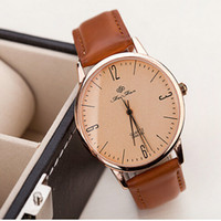 bands and noble - Findmecatalog special No figures display dial Luxury Vine Leather made band men and women casual noble quartz wrist watch