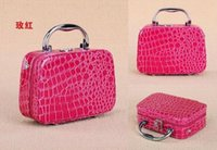 large cross jewelry - New Style PU Cosmetic Case Women Make Up Box Large Capacity Jewelry Storage Box Handbag Colors