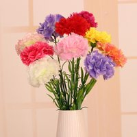 artificial carnations - Hot Sale Artificial Flowers Carnation Bouquet Silk Flower For Home Living Room Party Wedding Decor Valentine s Day Gift JM0082 Salebags
