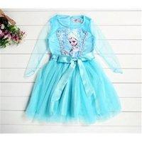 Cheap New 2014 Girls Frozen Elsa Dress Frozen Princess Dress Children Kids Custom-Made Cosplay Dress Costumes#6 SV004120