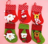 bags gif - 500pcs Christmas stocking cute stock gif bags for Christmas Decorations hot selling via FedEx ship