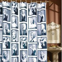 Wholesale EMS x180cm Marilyn Marylin Monroe Polyester Shower Curtain Waterproof Shower Curtain