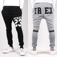 Cotton Blend drop crotch pants - Harem Pants pyrex Style Fashion Casual Skinny Sweatpants Sport Pants Trousers Drop Crotch Jogging Pants Men Joggers Sarouel