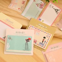 Wholesale Cute Retro Sticky New Memo It Removable Adhesive Paper Notes Messages Posted Office School Supplies from China
