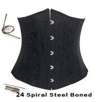Wholesale Steel Bone Waist Cincher Waist Training Corsets Body Shaper Underbust Corset Plus Size Waist Cincher Black White