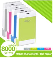 batteries msds - hot selling mAh Ultrathin Li polymer Battery power bank with mirror passed CE FCC RoHs and MSDS