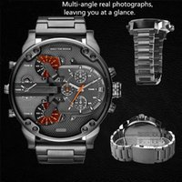 Wholesale Cool Newest High quility Classic Mens Male Luxury Watch Full Stainless Steel Army Sport Analog Quartz Wristwatch