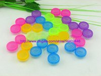 contact lens case - 500sets Colourful Contact Lens Box Holder Container Case Soak Soaking Storage Eye Care Kit Double Case Lens Cases Free DHL shipping