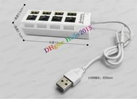 Wholesale freeshipping Four port usb hub USB2 strip usb hub usb hub splitter with separate switch