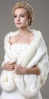 2016 зима новый Обертывания Свадебные Куртки Белый искусственного меха Shrug Кабо украл Wrap Свадебные особый случай шаль Свадебные аксессуары CPA333