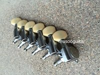 Wholesale 6R Chrome Guitar Tuning Pegs keys Tuners Machine Heads for Style Electric Guitar From korean