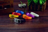 Wholesale Sound Control Led Flashing Bracelet Bangle Wristband flash safety warning bracelet fluorescence outdoor sporting goods Night Club Activity