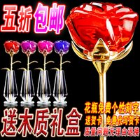 Wholesale Romantic crystal rose decoration day gift girlfriend gifts wedding gifts