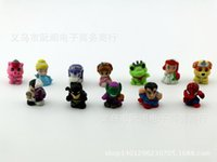 Wholesale Hot avengers figure batman Action Figures Spider superhero anime snow White cm Mini Model Action Figures Mini Soft Toys Factory Price DHL