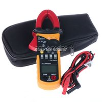 Wholesale New LCD Digital Multimeter Electronic Tester AC DC Clamp Meter tool order lt no track
