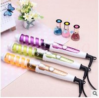 Wholesale 50pcs CCA2933 Hot Professional Portable Hair Salon Spiral Curl Ceramic Curling Iron Hair Curler Waver DIY Travel Spiral Roller Hair Curler