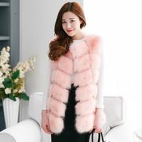 Wholesale Winter Coat Women Fashion Import Overcoat Whole Peel Fox Fur Vest High Grade Cappa Fur Coat Leisure Shitsuke Women Coat