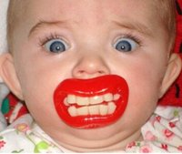 Wholesale Novelty Pacifier Cute Funny Dummies Teeth and Mustach Dummy Baby Nipple Joke Maternity Toddler Child Teething