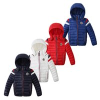Wholesale New Brand Kids Unisex Winter Hooded Jacket Coats Lightweight Fashion Candy Color Warm Cotton Outwear Warm Down Parkas
