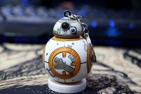 bb abs - 2 inch new Star Wars The Force Awakens BB8 BB R2D2 Droid Robot keychain Action Figure stormtrooper Clone Strap New year toys