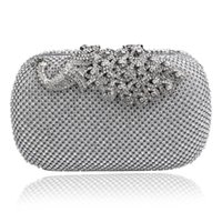 beaded pewter - HOT rhinestones evening bags small day clutch beaded evening bags tassel fashion women bag Pu leather messenger bags