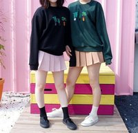 army girlfriend - Korea ulzzang purchasing Harajuku small fresh wind girlfriends loaded three tree printing hedging sweater coat female