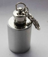 barrel funnel - Mini cm oz stainless steel hip flask round barrel hip flasks hip pocket funnel with keychain