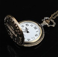 Unisex antique pirate ship - Hot Selling Steampunk Vine Antique Anime Cute One Piece Pirate Pattern Pocket Watch Charm Locket Necklace