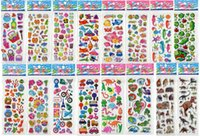 Wholesale 3D Children girls boys birthday gift Sheets Set C Mixed Kids Cute Stickers Puffy Decoration Stickers Kids DIY Toy