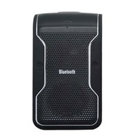 Wholesale Bluetooth Hands Free Car Kit Wireless Speakerphone With Car Charger Connecting To two Phones