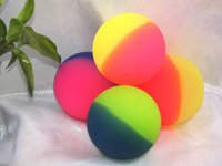 Wholesale 45mm big bouncing ball colourful rubber ball frosted ball toy for children top rebound pet ball