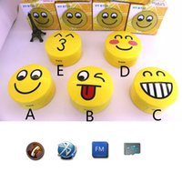 audio expressions - 2015 HY BT25 Cute Smile Stereo Bluetooth Speakers BT Portable Mini Wireless Subwoofers USB TF Cards Laugh Kiss Naughty Five Expression