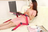 Cheap Wholesale - free shipping new A8 aluminum laptop table bed computer desk lazy desk folding table stand the heat much more style color