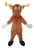 adult moose costume - MOOSE mascot costumes real picture adults christmas Halloween Outfit Fancy Dress Suit
