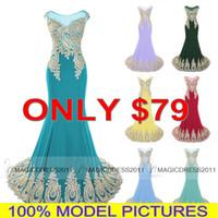 al por mayor la gasa de dubai-2016 Diseñador gasa baile vestidos largos para Homecoming Chicas Mujeres Sale barato EN STOCK árabe Dubai Celebrity boda vestidos de noche formales