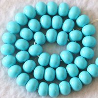 baking glass paint - New rondelle abacus x8mm baking paint glass beads orange blue Newly diy jewelry quot B1080