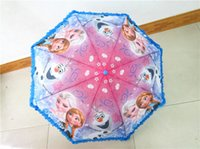 Wholesale Foreign trade explosion models of ice and snow romance lace umbrella folding child children cartoon short paragraph071605