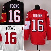 Cheap Factory Outlet, Customized Olympic 2014 16# Jonathan Toews Men's Red ,Black,White Canada stitched Hockey Jersey